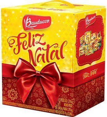 Cesta de Natal Bauducco Pequena 15 Itens