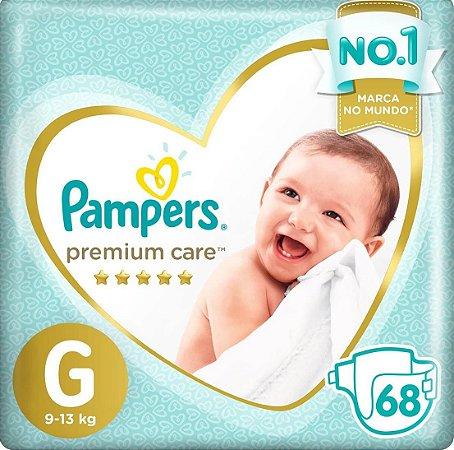 Fralda Pampers Premium Care Tamanho G com 68 Unidades