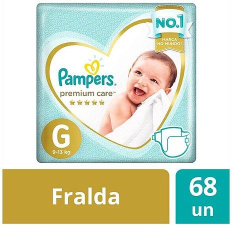 Fralda Pampers Premium Care Tamanho G 68 Unidades