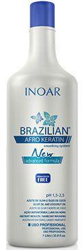 Inoar Brazilian Afro Keratin 1000ml - Redutor de Volume