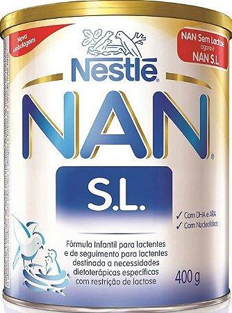 Leite Nan S.L. Sem Lactose Fórmula Infantil Nestlé Lata 400g