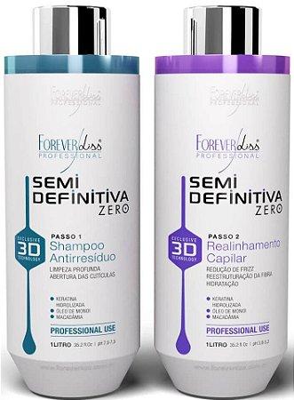 Kit Escova Semi Definitiva Zero 2x1L Forever Liss