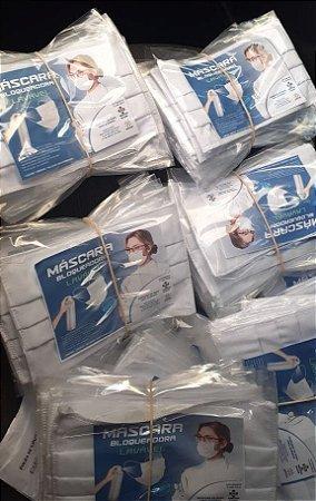 Kit 100 Máscara de Tecido Lavável Reutilizável