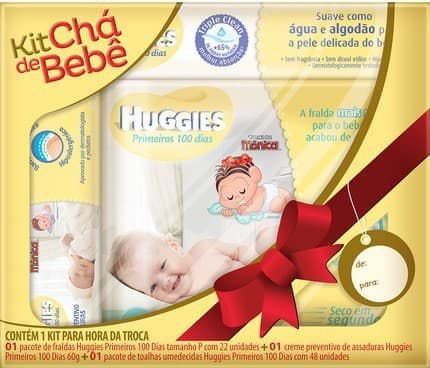 Kit Chá de Bebê Huggies Primeiros 100 Dias