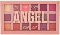 Paleta de Sombras Angel da Pink 21 com 18 Unidades