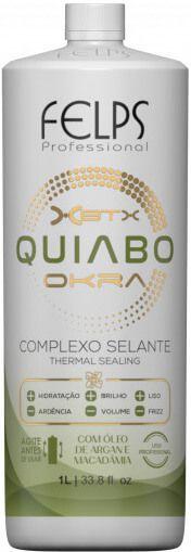 Felps Escova Progressiva de Quiabo Xbtx Okra Complexo Selante 1 Litro