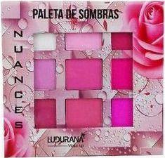 Paleta de Sombras 9 Cores Rosa Ludurana