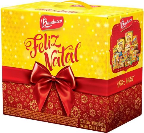 Kit Cesta de Natal Bauducco Grande Com 30 Cestas
