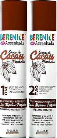 Kit Escova Progressiva Cacau Bioplastia Berenice Assanhada 2x1 Litros