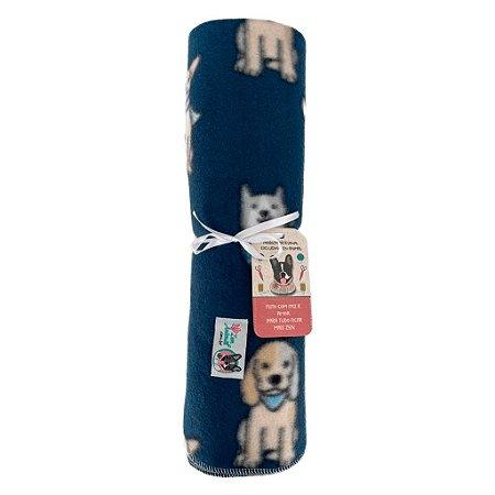 Manta Projeto Soninho Zen - Blue Dogs - Compre uma e doe outra