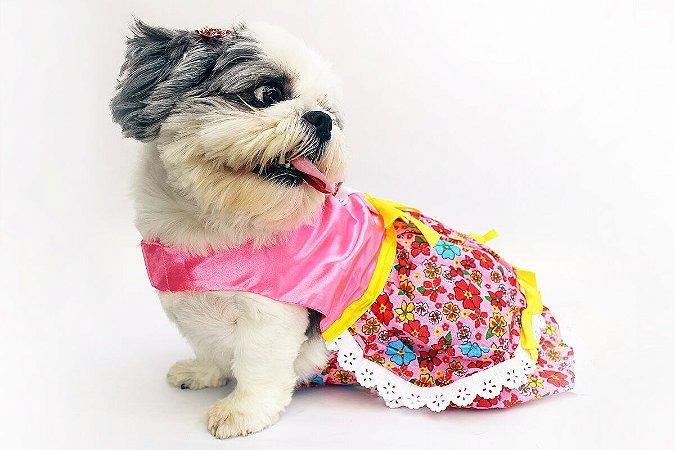 Vestido Caipira Flor