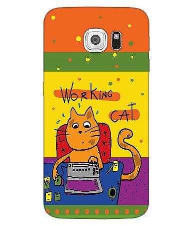 Capa de Celular - Working Cat
