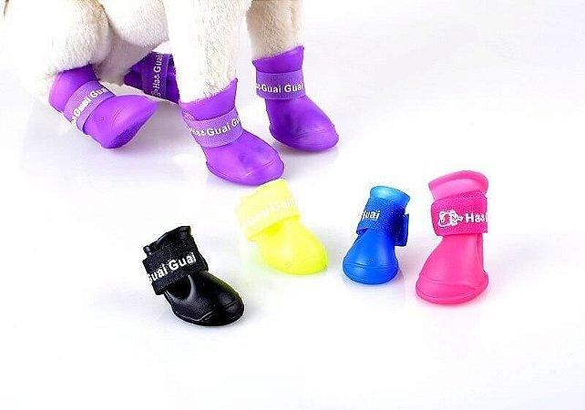 Sapato de Silicone para Cães Pequenos