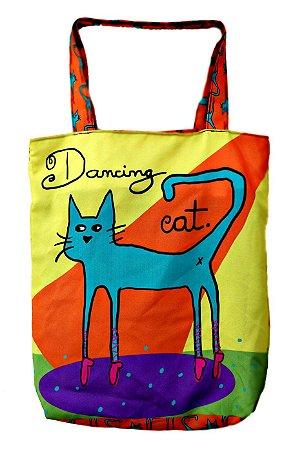 Bolsa tipo Sacola Dancing Cat