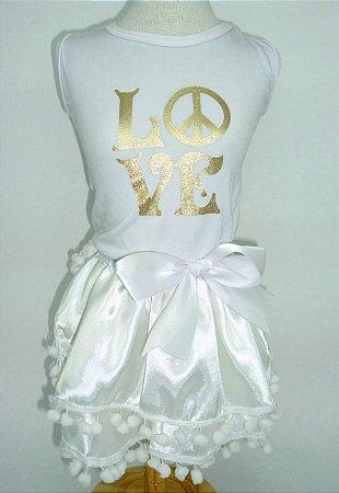 Vestido Festa Love POM POM