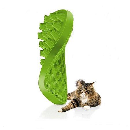 """Escova Massageadora """"PET+ME"""" - Gatos de Pelos Longos"""