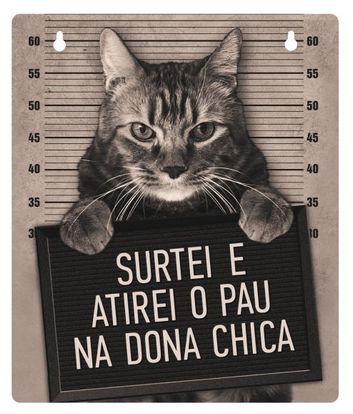 Plaquinha decorativa Dona Chica