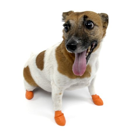 Pawz Laranja - Botas para Cães - Tamanho X Small (X Pequena)