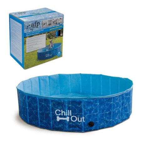 Piscina Para Cães Média Afp - Chill Out Splash And Fun Dog Pool - 340 Litros