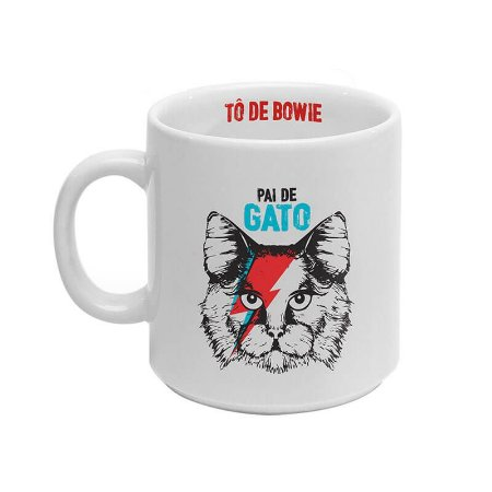 Caneca Pai de Gato - Tô de Bowie