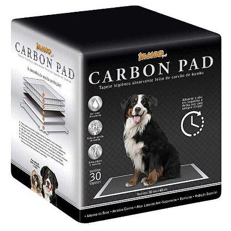 Tapete Higiênico Carbon Pad - Carvão de Bambu - 30un