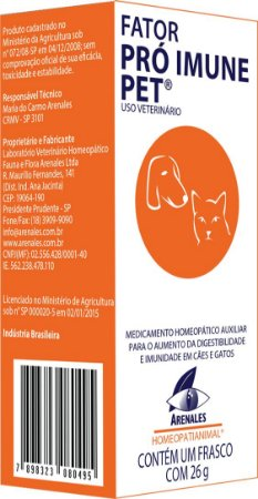 Fator Pro Imune Pet - Arenales - Homeopatia