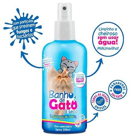 Banho de Gato à Seco - Com Partículas Medicinais de Limpeza