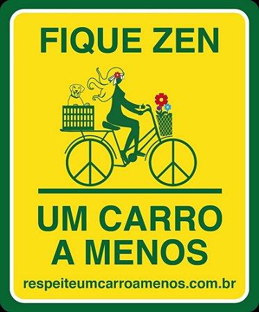 Placa Refletiva para Bicicleta - Menina, Cachorro e Flores