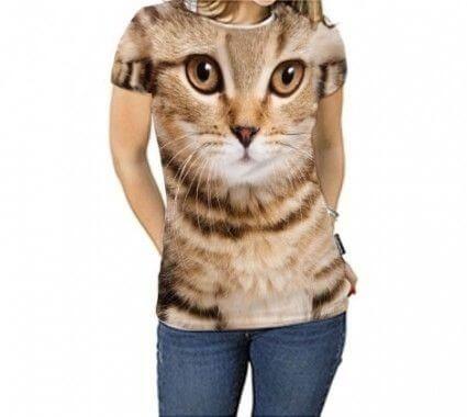 Camiseta Feminina - Gatinho