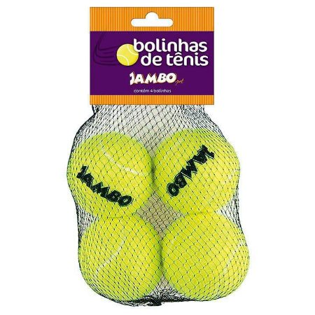 Kit com 4 Bolinhas de Tênis