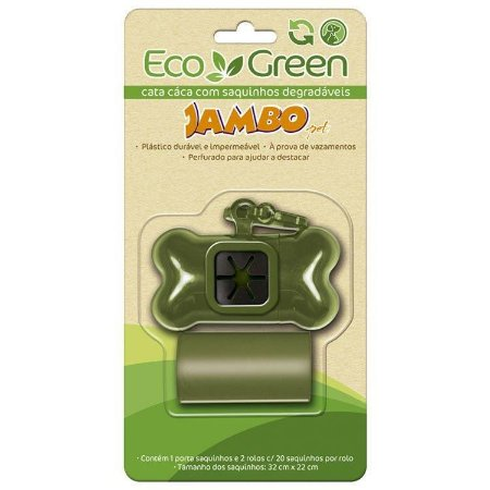 Kit Cata Caca Eco Green - Degradável