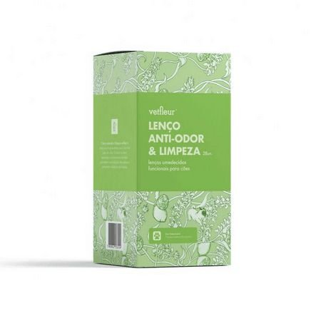 Lenço Anti-Odor e Limpeza - 28un - Vetfleur Aromaterapia