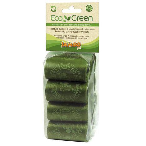 Cata Caca Eco Green - Degradável - 8 rolos com 20 sacos