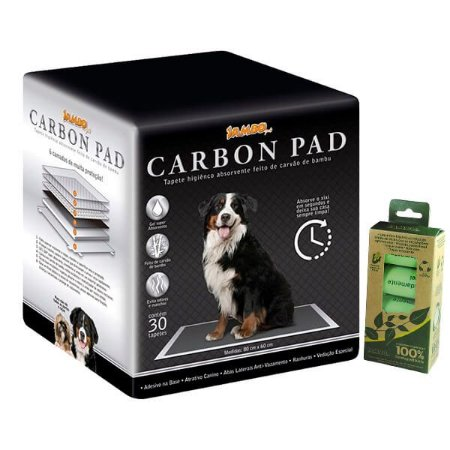 Kit Carbon Pad + Cata Caca 100% Biodegradável