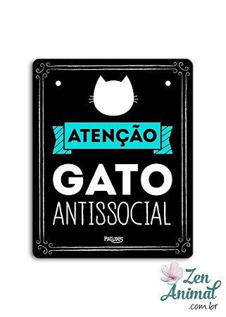 Placa Gato Antissocial