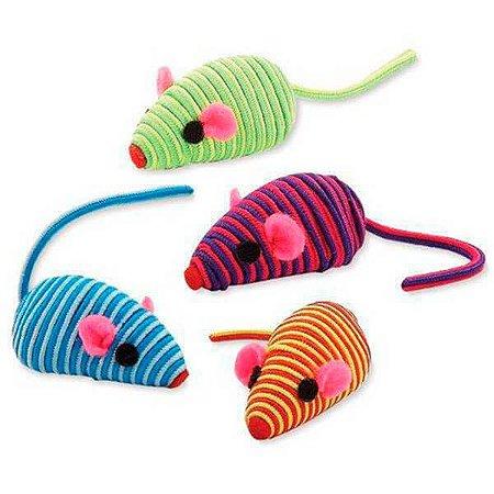 Brinquedo com Catnip para Gatos - Ratinhos coloridos