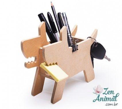 Organizador de Escritório - Cachorro ou Gato