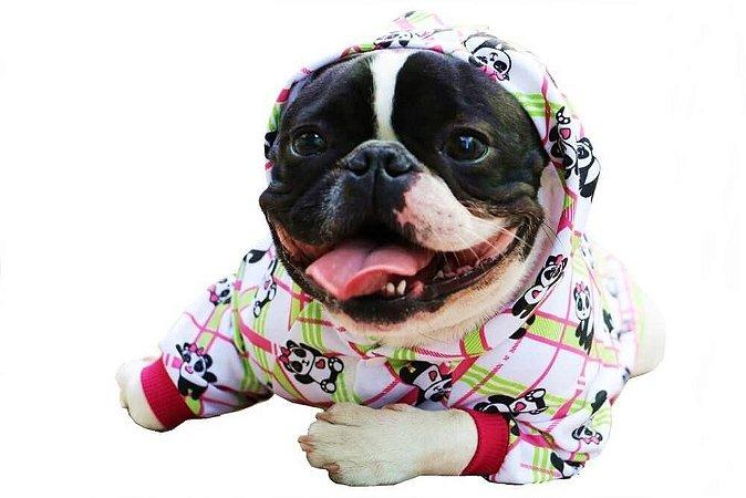 Casaco tipo Pijama - Panda Apaixonado