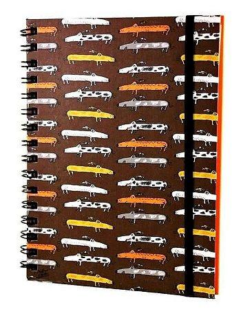 Caderno Espiral Salsichinhas