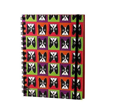 Caderno Espiral Bulldog Francês