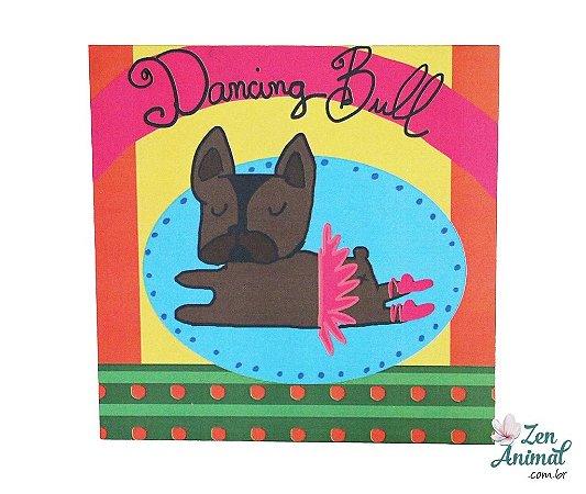Plaquinha Decorativa - Bulldog Bailarina