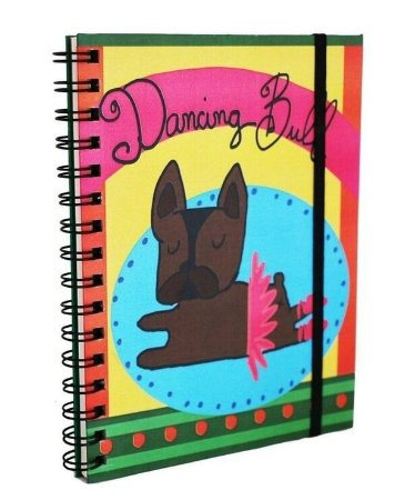 Caderno Espiral Bulldog Bailarina