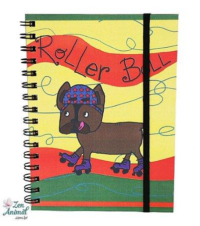 Caderno Espiral Bulldog de Patins