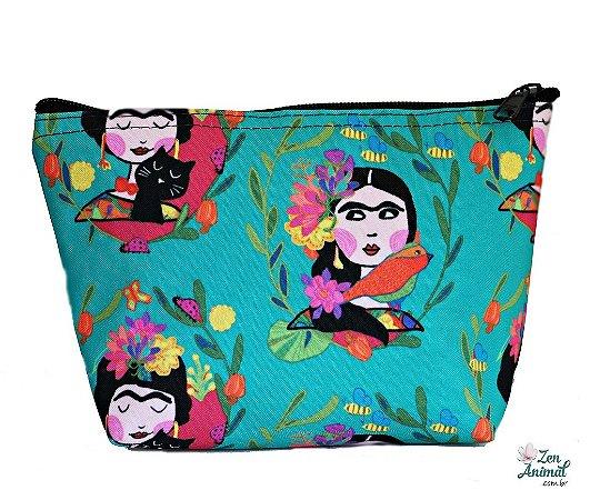 Necessaire Frida Kahlo e Gatinho