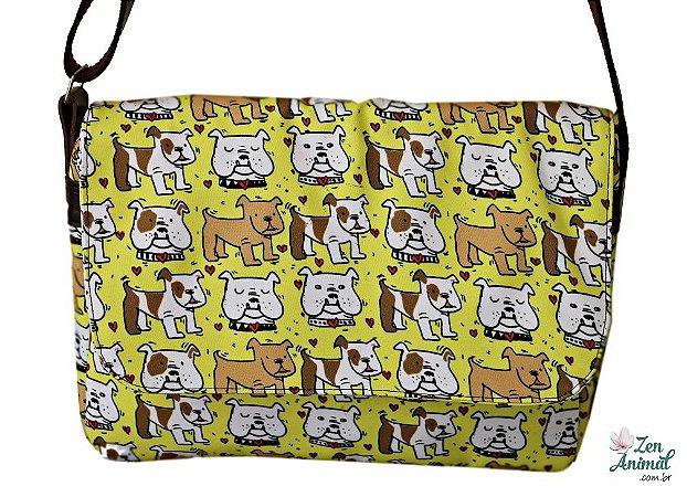 Bolsa Carteiro Bulldog Inglês