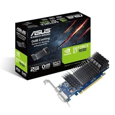 Placa De Vídeo Geforce Ddr5 2Gb/064 Bits Gt 1030 Asus, Gt1030-Sl-2G-Brk, Oc Edition, Dvi, Hdmi