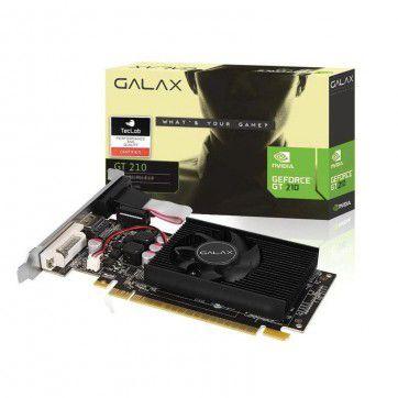 Placa De Vídeo Geforce Ddr3 1Gb/064 Bits Gt 210 Galax, Dvi, Hdmi, Vga, Low Profile, 21Ggf4Hi00Np