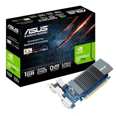 Placa De Vídeo Geforce Ddr5 1Gb/064 Bits Gt 710 Asus, Gt710-Sl-1Gd5