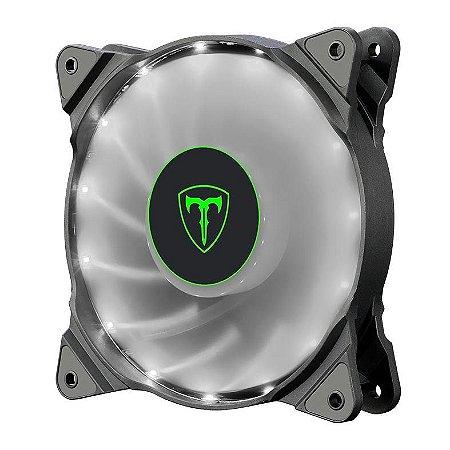 Cooler Fan Branco T-Dagger T-Tgf300-W, 12X12X2.5 Cm, 3-Pin E Molex, 1.200 Rpm, Silencioso