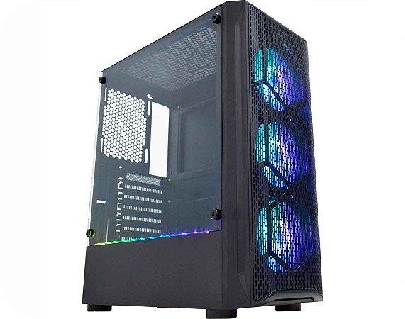 Pc Gamer Intel I3-10100F, Gigabyte H410M H, Ssd 480Gb Kingston, Mem. 8Gb Winmemory, Kmex 02Jt, Fonte 450 Corsair, Gt1030